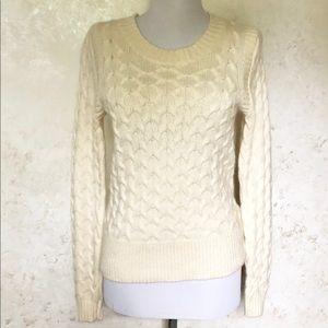 J. Crew Honeycomb Angora Blend Sweater